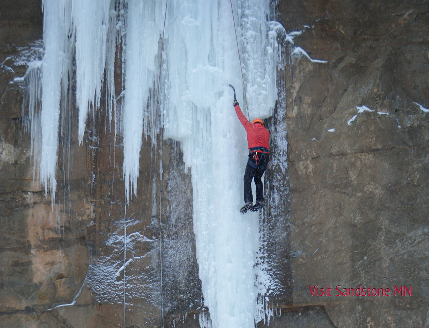 sandstone ice climbing