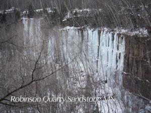 Ice climbing sandstone mn