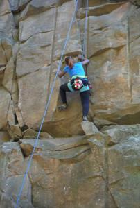 rock climbing Sandstone MN