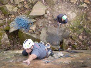 Sandstone MN rock climbing