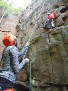 Sandstone MN rock climbing instruction