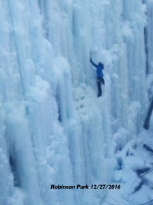 ice climbing in Sandstone MN